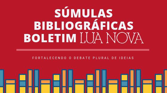 SÚMULAS BIBLIOGRÁFICAS BOLETIM LUA NOVA